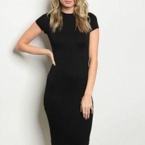 Sexy form fitting black dress